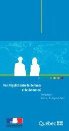 Vers l'égalité entre les femmes et les hommes? - Institut de la ...