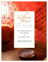 Download the Saffron House food menu - Beales Hotels