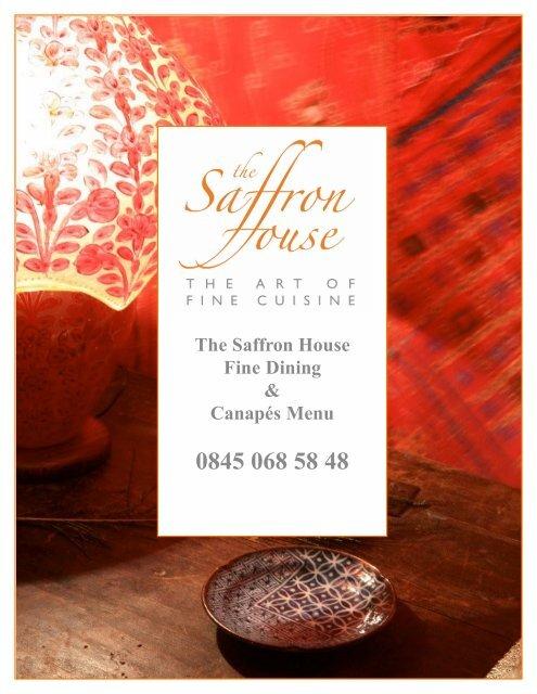Download the Saffron House food menu - Beales Hotels