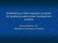 Establishing a State Regulatory Program - Regulatory Commission ...