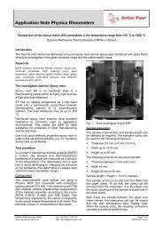DMTA of epoxy resins - MEP Instruments