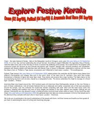 Onam - the state festival of Kerala - falls on the Malayalam month of ...