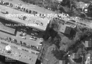 DENSIFICATION DE LA ZONE VILLA