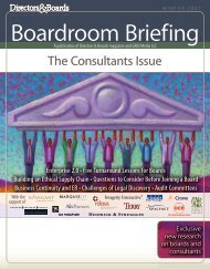The Consultants Issue - Directors & Boards