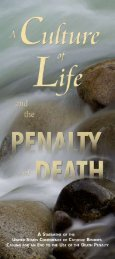 A Culture of Life and the Penalty of Death - United States ...