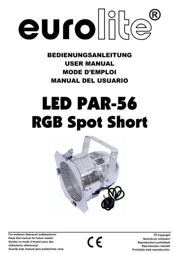 Eurolite led par-38 rgb spot user manual.