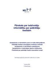 Pārskats par iedzīvotāju informētību par patērētāju ... - Par PTAC