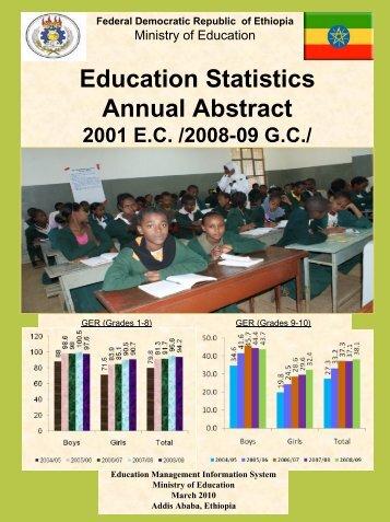 2001 EC - Ministry of Education Supplementary Website - MOE