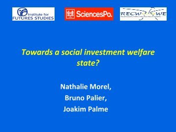 Towards a social investment welfare state?