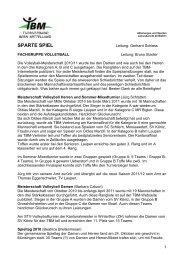 sparte spiel - Turnverband Bern Mittelland