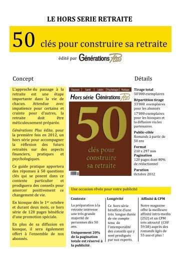 50 clés pour construire sa retraite - Publi Annonces