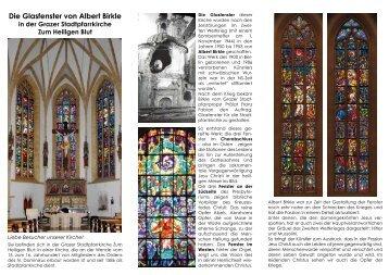 Die Glasfenster von Albert Birkle - Stadtpfarrkirche Graz