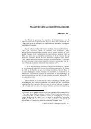 transition vers la democratie au bresil - Maison des sciences de l ...