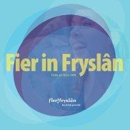 feiten en cijfers 2006 - Fier Fryslân