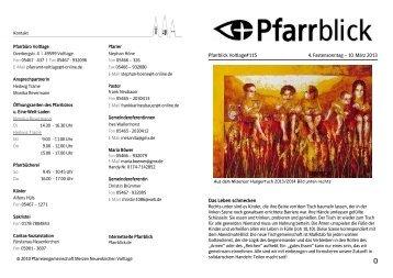 Pfarrblick Voltlage#115 4. Fastensonntag – 10. März 2013 Das ...