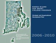 Strategic Plan - Rhode Island Sea Grant - University of Rhode Island