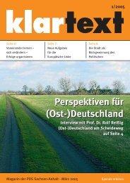 klartext 01/2005 - PDS Sachsen-Anhalt