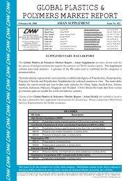 GLOBAL PLASTICS & POLYMERS MARKET REPORT
