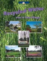Recycled Water Brochure - San Diego Health Reports and Documents