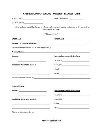 Transcript Request Form - Intercultural Institute Of California