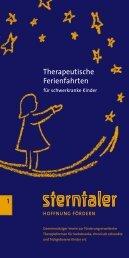 Therapeutische Ferienfahrten für schwerkanke Kinder - Sterntaler e.V.
