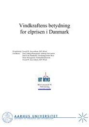 Vindkraftens betydning for elprisen i Danmark