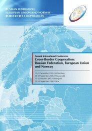 Cross-Border Cooperation: Russian Federation, European Union ...