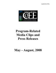 Program-Related Media Clips and Press Releases - Endowedchairs ...