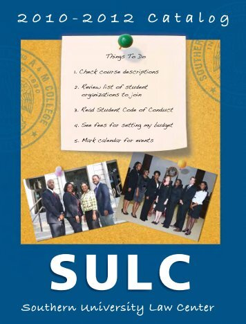 Get the Catalog - Southern University Law Center