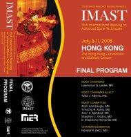 HONG KONG - Scoliosis Research Society