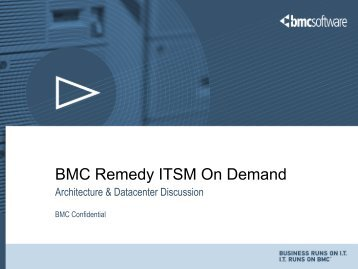 BMC Remedy ITSM On Demand - RightStar