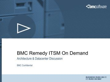 BMC Remedy ITSM On Demand - RightStar
