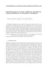 identification of basic thermal technical characteristics ... - Kybernetika