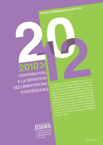 projet d'établissement (pdf, 445 Ko) - Inpes