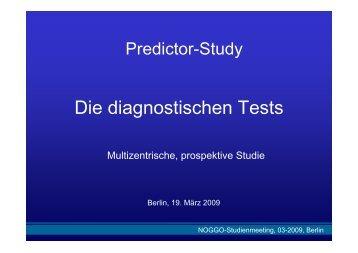 Die diagnostischen Tests
