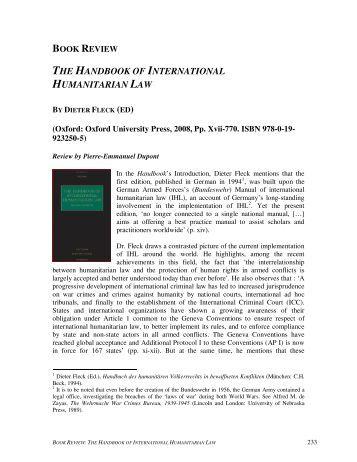 Summary international law