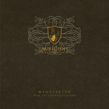 Auricont - Manufaktur für Feuervergoldung - Imagebroschüre - brandpi