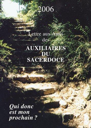 CV LETTRE 2006 / cde - Le site des auxiliaires du Sacerdoce - Free