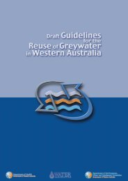 Draft Guidelines for the Reuse of Greywater in Western Australia