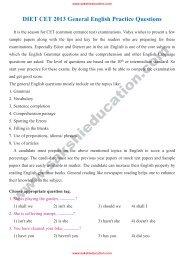 DIET CET 2013 General English Practice Questions
