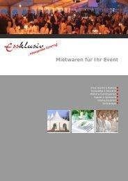 Mietwaren für Ihr Event - Essklusiv...bewegendes Catering!