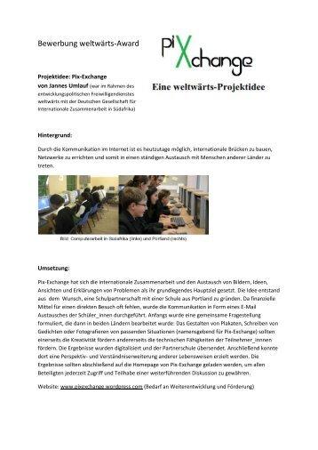 Jannes Umlauf: Pix-Exchange - globalista