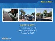WHAT IS BRT? - Metro