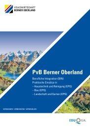 PvB Berner Oberland - Volkswirtschaft Berner Oberland