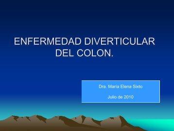 Enfermedad Diverticular de Colon. - Asociación de ...