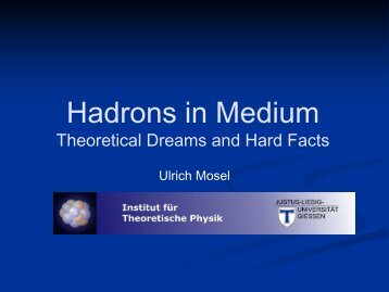 Hadrons in Medium