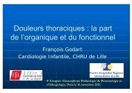 Douleurs thoraciques - Société pédiatrique de pneumologie et d ...