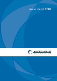 annual report 07/08 - Land Development Corporation - Northern ...