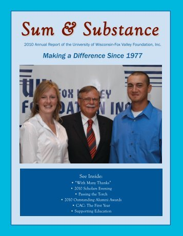 2010 Annual Report - University of Wisconsin-Fox Valley