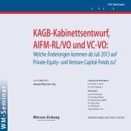 KAGB-Kabinettsentwurf, AIFM-RL/VO und VC-VO: - WEITNAUER ...